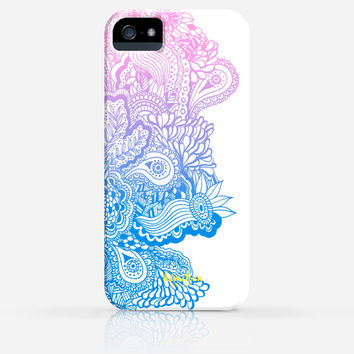 Zentangle Drawing Pattern 6 Colors iPhone 4 Case, iPhone 4s Case, iPhone 5 Case, iPhone 5s Case, iPhone Hard Plastic Case