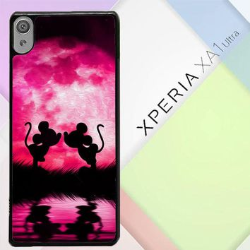 Mickey Minnie Mouse Silhouette W4418 Sony Xperia XA1 Ultra Case
