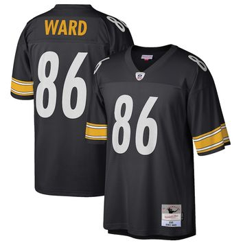 Men's Pittsburgh Steelers Hines Ward Mitchell & Ness Black 2005 Retired Player Replica Jersey