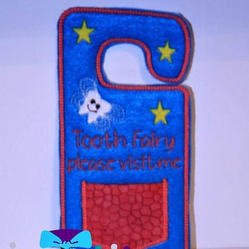 Tooth Fairy Door Hanger~ Children~ Lost Tooth~ First Tooth~ Custom Color Choices