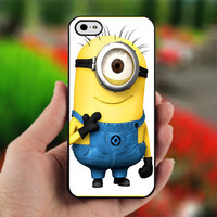 DESPICABLE ME Minion Character - PC025 - Print on Hard Cover - For iPhone 4, iPhone 4S, and iPhone 5 Case - Black, White, and Clear