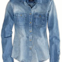 's Denim Workwear Shirt (Medium Wash)