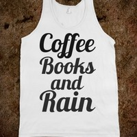 COFFEE, BOOKS, AND RAIN