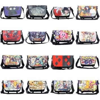 New Goods: Anime Jojo/Inuyasha/Deadpool/Kirby/Pikachu etc Student Aslant/Crossbody/Messenger/School/Shoulder Bag/Satchel