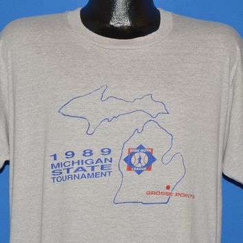 80s Michigan State Tournament 1989 t-shirt Large