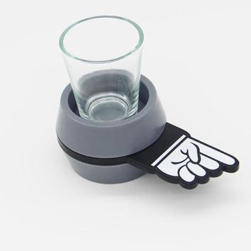 Hand Finger Pointing Spin The Shot Glass Roulette Drinking Game