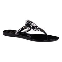 Georgica Jelly Sandal in Black and White by Jack Rogers - FINAL SALE