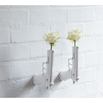 Wall Mounted Gun Vase by SUCK UK | Generate Design