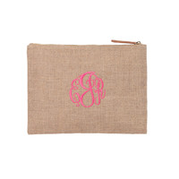 Zip Pouch with Monogram