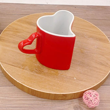 Heart Shaped Coffee & Tea Mugs