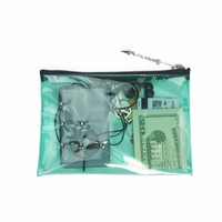 Mini Zippered Pouch Green Vinyl