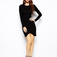 ASOS PETITE Asymmetric Body-Conscious Dress