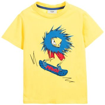 Fendi Boys 'Monster' Skateboard Tee