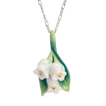 Franz Collection Lily of The Valley Flower Necklace