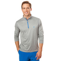 Pop Color Performance 1/4 Zip Pullover in Heathered Grey by Southern Tide