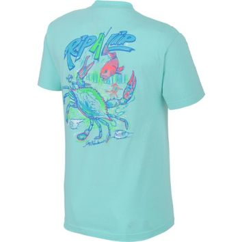 Rip A Lip Adults' Blue Crab T-shirt