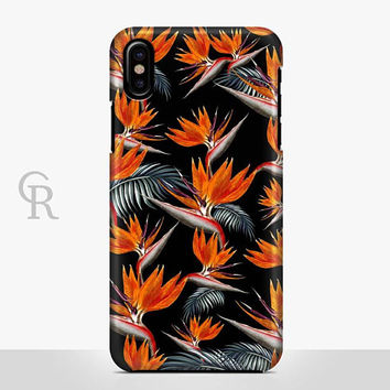 Tropical Floral Phone Case Case For iPhone 8 iPhone 8 Plus - iPhone X - iPhone 7 Plus - iPhone 6 - iPhone 6S - iPhone SE - Samsung S8