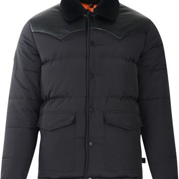 Bellfield Kroni Sherpa Collar And PU Trim Padded Jacket