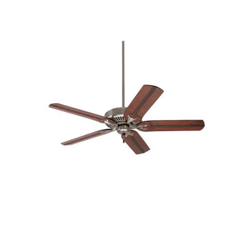 Emerson Fans BKIT-CF4801BS-B105HCB Premium Select Brushed Steel 54-Inch Ceiling Fan with Beaded Hand Carved Wood Blades