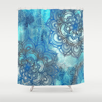 Lost in Blue - a daydream made visible Shower Curtain by Micklyn