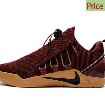 sneaker ties Nike Kobe AD NXT 2017 NBA Playoffs Cavs Cleveland Cavaliers Burgundy Gold sneaker
