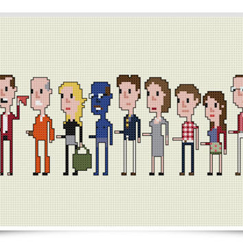 Arrested Development Cross Stitch Pattern - Geeky 8-bit Pixel Art
