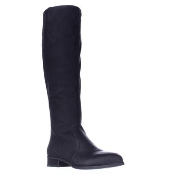 Nine West Nicolah Tall Riding Boots, Black, 5 US