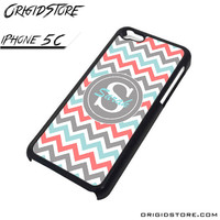 Chevron Tiffany Blue Coral Type Your Name Case For Iphone 5C Case