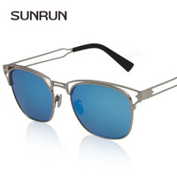 Open Metal Hornrim Sunglasses