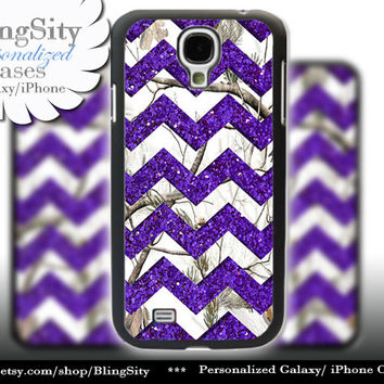 White Camo Sparkle Chevron Galaxy S4 S5 case Purple Real Tree Camo Deer Personalized Samsung S3 Case Note 2 3 4 Cover