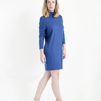 Blue Merino Wool Dress