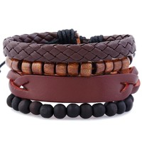 Stylish Gift Shiny New Arrival Hot Sale Great Deal Awesome Star Accessory Leather Bracelet [250988429341]