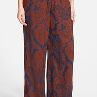 Junior Women's Sun & Shadow Paisley Print Pants,