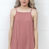 Strappy Open Back Modal Tank {L. Brick}
