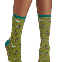 ModCloth Quirky Duck, Duck, Goose Socks