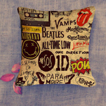 5 seconds of summer one direction pow brotherhood pillow case/ Pillow Cover/ 16 x 16/ 18 x 18/ 16 x 24/ 20 x 30/ 20 x 36