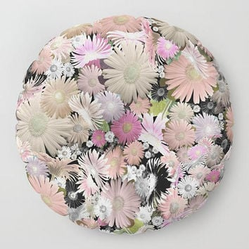 Floral floor pillow colorful abstract flowers pillows shabby chic folk boho art meditation floor cushion floor pillows colorful floor pillow