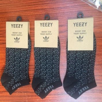 PEAPON Adidas Yeezy Boost 350 Men Sport Invisible Liner Socks