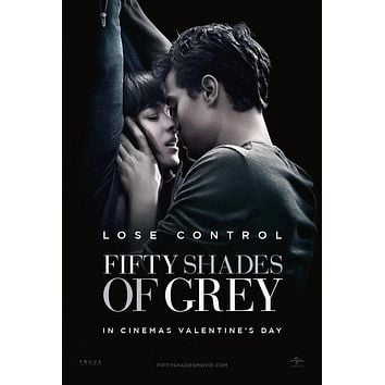 Fifty Shades of Grey 50 Fifty Shades Movie poster Metal Sign Wall Art 8in x 12in