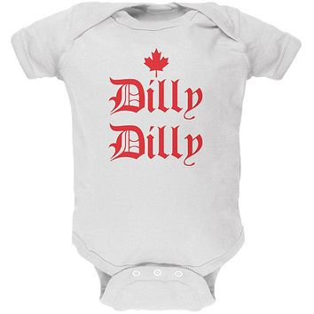 Dilly Dilly Canada Day Flag Maple Leaf Soft Baby One Piece