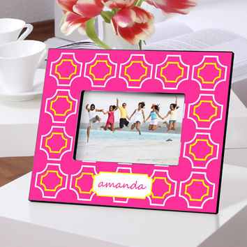 Personalized Color Bright Frames - Pink Lattice