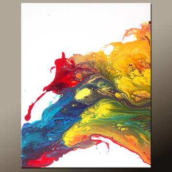 Abstract Canvas Art Painting 40x30 Contemporary Original Wall Art Paintings by Destiny Womack -  dWo - Beyond the Rainbow