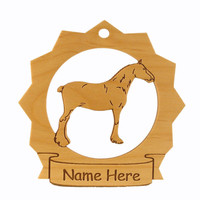 Clydesdale Horse Wood Ornament 088099 Personalized With Your Horse's Name