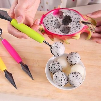Fashion Multi Function Stainless Steel Fruit Carving Ice Cream Scoop