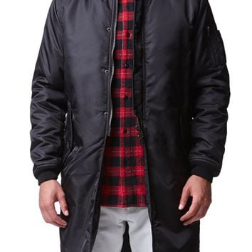 Reign+Storm Long Bomber Jacket - Mens Jacket - Black