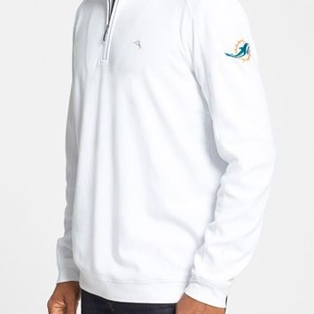 Tommy Bahama 'Miami Dolphins - NFL' Quarter Zip Pima Cotton Sweatshirt