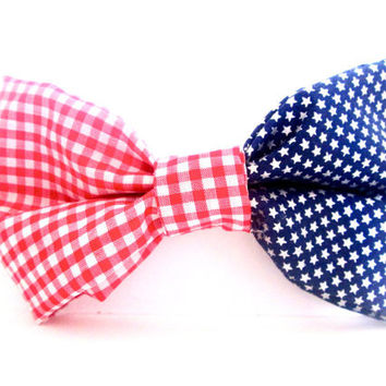Patriotic Stars & Stripes American Flag Hair Bow