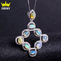 Natural fire Opal Necklace Pendant Genuine gems color stone 925 sterling silver women fantastic jewelry