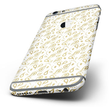 The White and Gold Foil v8 Six-Piece Skin Kit for the iPhone 6/6s or 6/6s Plus