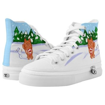 Snow Puppy Printed Shoes